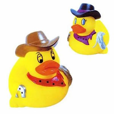 Promotional Rubber Rodeo Duck