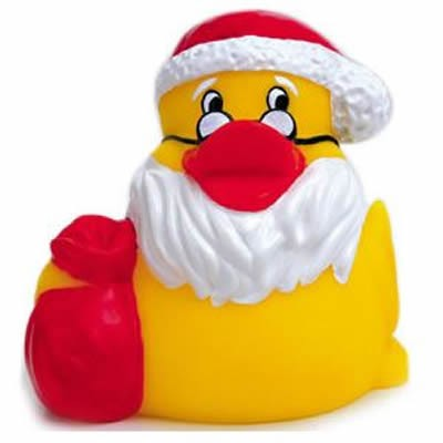 Promotional Rubber Santa Claus Duck