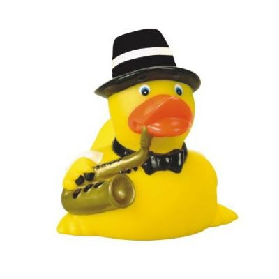 Custom Rubber Jazz Musician Duck