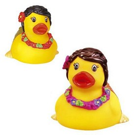 Custom Rubber Hawaii Hula-Duck