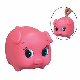 Customized Rubber Porkie Pig Bank