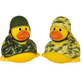 Promotional Rubber Soldier Duck