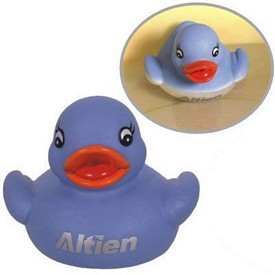 Customized Rubber Blue Color Changing Duck