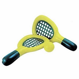 Promotional Tennis Game 25 Tennis Racket And 5 Vinyl Ball
