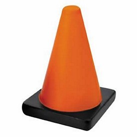 Promotional Traffic Cone Stress Reliever