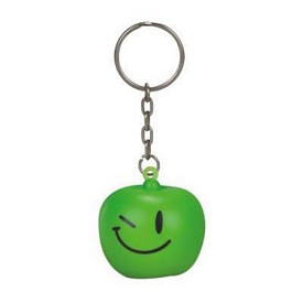 Promotional Green Apple Stress Reliever Key Chain