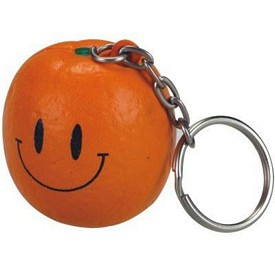 Customized Orange Stress Reliever Key Chain