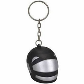 Promotional Helmet Stress Reliever Key Chain