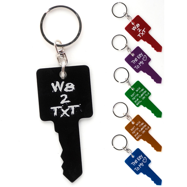 Key Shaped Aluminum Key Chain