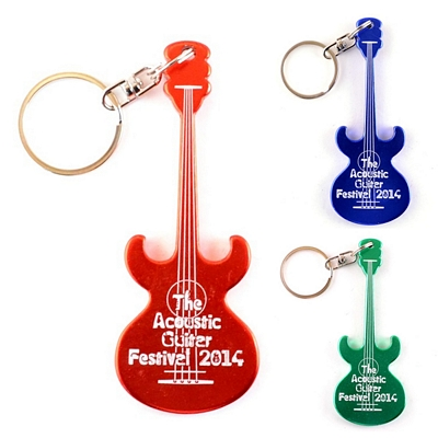 Promotional Acoustic Guitar Key Chain Bottle Opener
