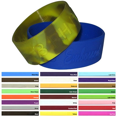 Customized 1-Inch Embossed Silicone Awareness Wristbands