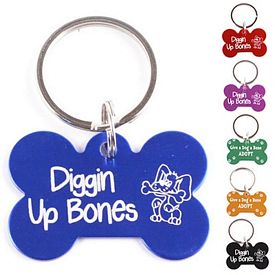 Promotional Dog Bone Aluminum Key Chain