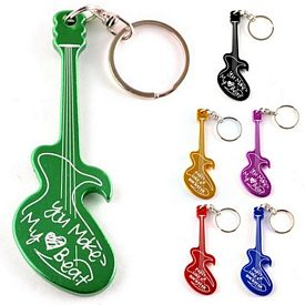 Promotional Guitar Aluminum Bottle Opener Key Chain