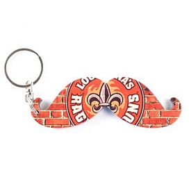 Custom Full Color Mustache Bottle Opener Key Chain
