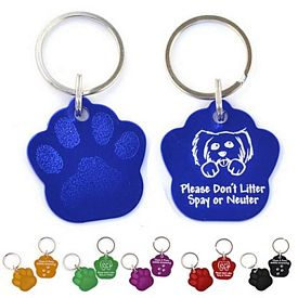 Custom Paw Print Aluminum Key Chain