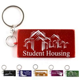 Promotional Rectangle Aluminum Key Chain