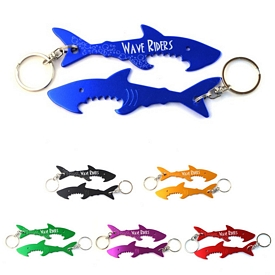 Promotional Shark Aluminum Bottle Opener Keychain