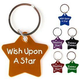 Promotional Star Aluminum Key Chain