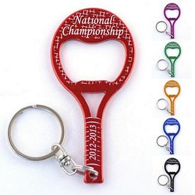 Promotional Tennis Racquet Bottle Opener Key Chain