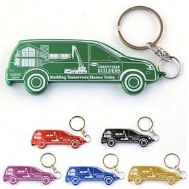 Promotional Mini-Van Bottle Opener Key Chain