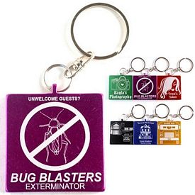 Promotional Square Aluminum Key Chain