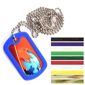 Customized Full Color Dog Tag Necklace Chain
