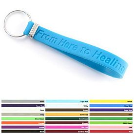 Promotional Debossed Silicone Key Chain