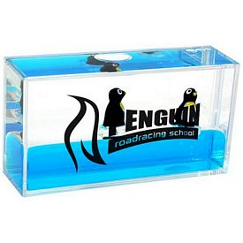 Customized Mini Penguin Liquid Wave Paperweight