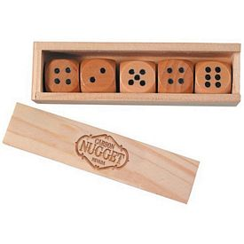 Customized Wooden Dice in Box Gift Set