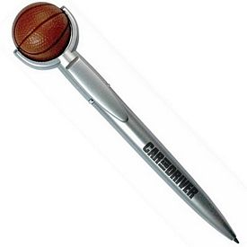 Customized Basketball Squeezie Top Pen