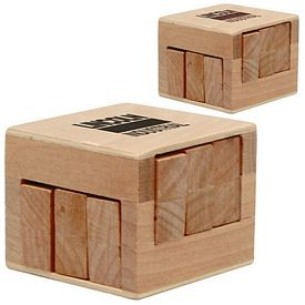 Customized Wooden Sliding Cube Puzzle