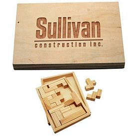 Promotional Wood Shapes Challenge Puzzle