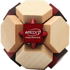 Customized 14 Sided Wooden Puzzle