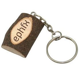 Customized Small Wood Twig Keyring