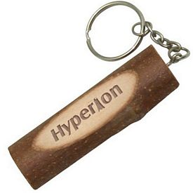 Customized Large Wood Twig Keyring