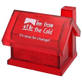 Promotional Red House Coin Bank