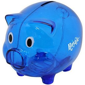 Promotional Blue Pig Coin Bank