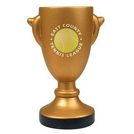 Promotional Gold Trophy Squeezie Stress Reliever