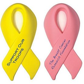 Promotional Awareness Award Ribbon Squeezie Stress Reliever