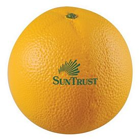 Promotional Orange Squeezie Stress Reliever
