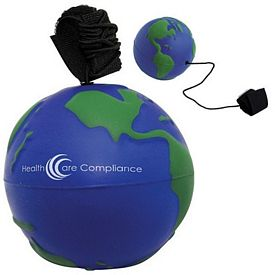 Customized Bungie Earth Ball Squeezie Stress Reliever