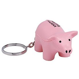 Promotional Pig Squeezie Keyring