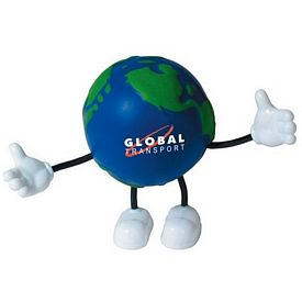 Customized Earth Bendy Guy Stressball