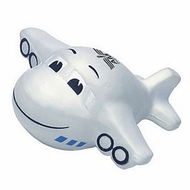 Promotional Mini Airplane with Smile Squeezie Stress Reliever
