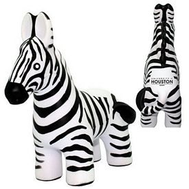 Customized Zebra Squeezie Stress Reliever