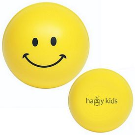 Customized Smiley Face Squeezie Stress Reliever