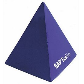 Customized Pyramid Squeezie Stress Reliever