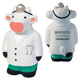 Promotional Doctor Cow Squeezie Stress Reliever