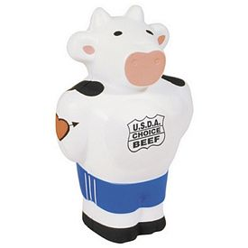 Customized Beefcake Cow Squeezie Stress Reliever
