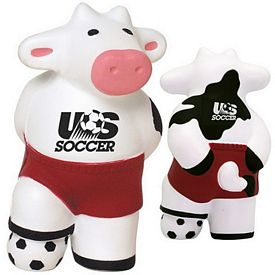 Customized Soccer Cow Squeezie Stress Reliever
